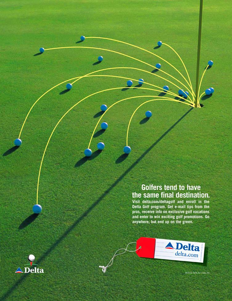 Delta air lines golf destinations ad aquazebra